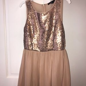eda29aa1 Women Rose Gold Sequin Dress Forever 21 on Poshmark
